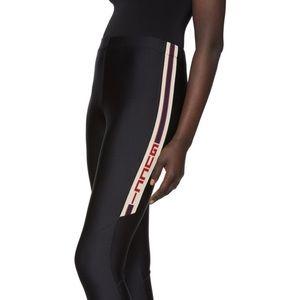 Gucci Side Stripe Logo Jacquard Spandex Leggings